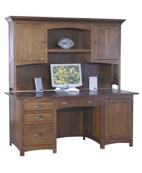 Computer Desks With Hutch by Oakwood Computer Desk Amish Direct Furniture