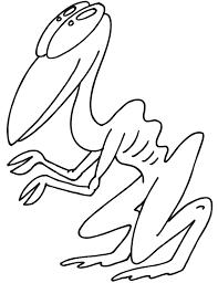 alien coloring strange alien creature colowing