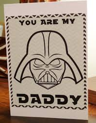 wars valentines day wars darth vader valentines day fathers day card for