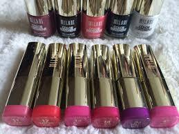 the new milani gel powder eye shadows statement nail polish and