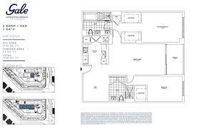 gale fort lauderdale 2 bedroom floor plan preconstruction