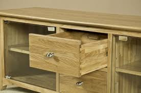 Oak Tv Cabinets With Glass Doors Oak Tv Cabinets With Doors