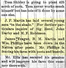 united states 1882 local news item what does in the shade
