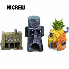 nicrew resin crafts mini for spongebob squidward house style