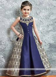 style navy blue gown for cute baby