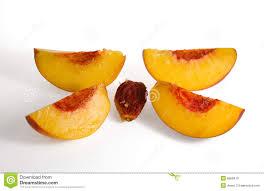 pêssego e clingstone cortados imagem de stock royalty free
