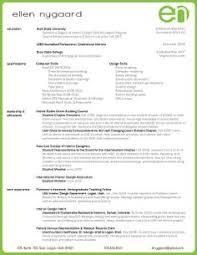 Professional Interior Design Portfolio Examples by Creative Resumes Interior Design Resume Design For Fasion