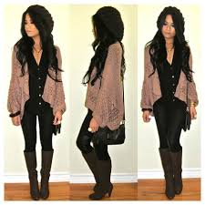 Dressy Cardigan Baggy Top Leather Pants U003d Dressy Casual Night Out