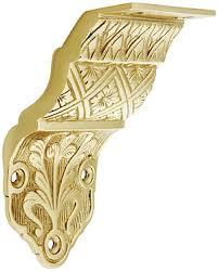 ornate victorian cast brass handrail bracket house of antique