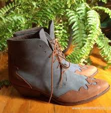 womens boots made in spain womens boots sale vintage blue and brown leather boots made