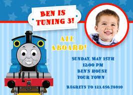thomas the train birthday invitations blueklip com