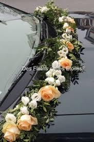 deco fleur mariage decoration voiture mariage guirlance de fleurs gypso