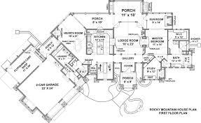 rocky mountain lodge house plan luxury mountain style floor plan