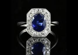 antique sapphire rings art deco sapphire rings u0026amp victorian