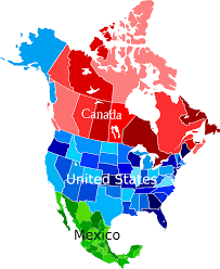 states canada map map of united states and canadian provinces geography blank