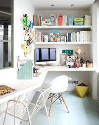 am駭ager bureau de travail idee deco bureau de travail espace travail turquoise et bleu idee