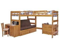 Bunk Bed Photos Heartland L Shaped Futon Bunk Bed Lf6200 Honey Pine