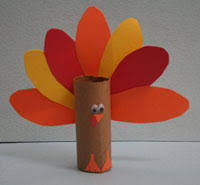 toilet paper roll turkey craft could be a way to
