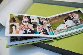modern photo album bespoke wedding albums