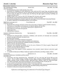 Headline On A Resume Plumber Resume Example