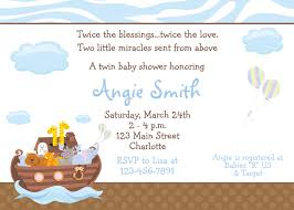 noah u0027s ark baby shower invitation twins baby shower