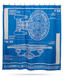Science Shower Curtain Shower Curtain Rod Star Trek Tng Enterprise Blueprint Shower Curtain Star Trek