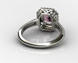 amethyst diamond engagement ring pink diamond engagement rings mrg jewelers 3d model 3d printable 3dm