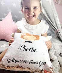will you be my flower girl gifts mermaid pillow will you be my flower girl flower girl gift