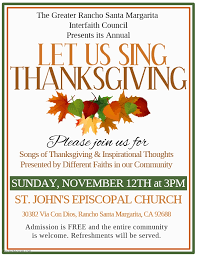 orange county interfaith network grsmic thanksgiving let us sing
