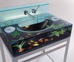 Glass Bathroom Vanity Furniture Modern Wall Mounted Bathroom Vanity With Glass Sink And