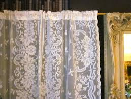 vintage lace curtains panels home design ideas
