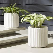 modern planters and garden pots cb2