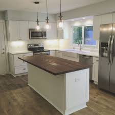 kitchen block island beautiful white kitchen with shaker cabinets subway tile