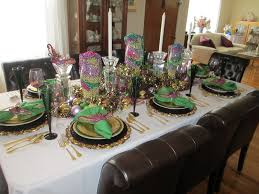 the welcomed guest mardi gras celebration table