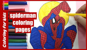 coloring for kids how to color spiderman coloring pages from