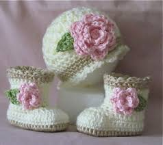 baby girl crochet crochet baby booties and hat for baby girl sugar and spice
