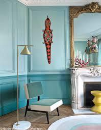 Appartement Haussmannien Deco Bleu Turquoise Et Pastel Le Duo Gagnant De Cet Appart