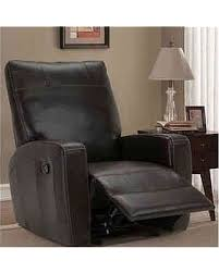 Glider Recliner Chair Amazing Deal Unbranded Natuzzi Top Grain Italian Black Leather