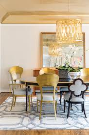 gold and black contemporary dining room design ideas