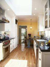 kitchen style modern galley kitchen ideas stainless steel
