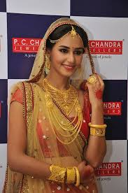 gujarati bridal gold jewellery designs by pc chandra