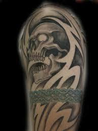 skull negative tribal by anthony lawton tattoonow