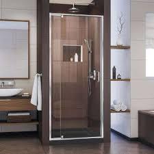 Shower Hinged Door Pivot Hinged Shower Doors Showers The Home Depot