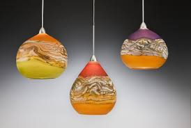 Colored Glass Pendant Lights Unique Lighting By North American Artists Artful Home