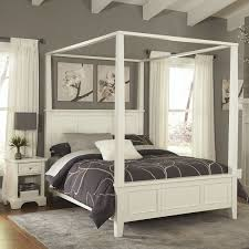 amazon com home styles naples white king canopy bed and night
