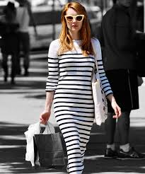 emma roberts stripes maxi dress ralph lauren