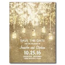 Mason Jar String Lights String Lights Mason Jars Save The Date Postcard