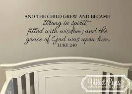 luke 2 40 christian religious bible verse vinyl wall art decor zoom
