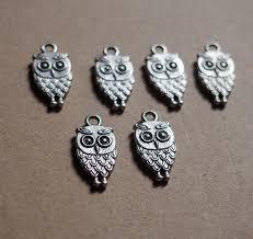 custom silver pendants 19 9mm silver owl alloy pendants craft supplies wholesale metal