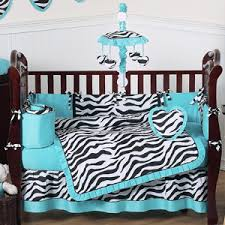 Purple And Aqua Crib Bedding Purple Funky Zebra Baby Bedding 9 Pc Crib Set Only 82 99